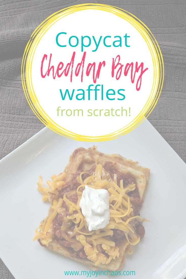 cheddar bay waffles on plate