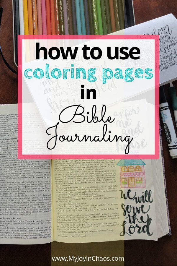 how to use coloring pages in Bible journaling