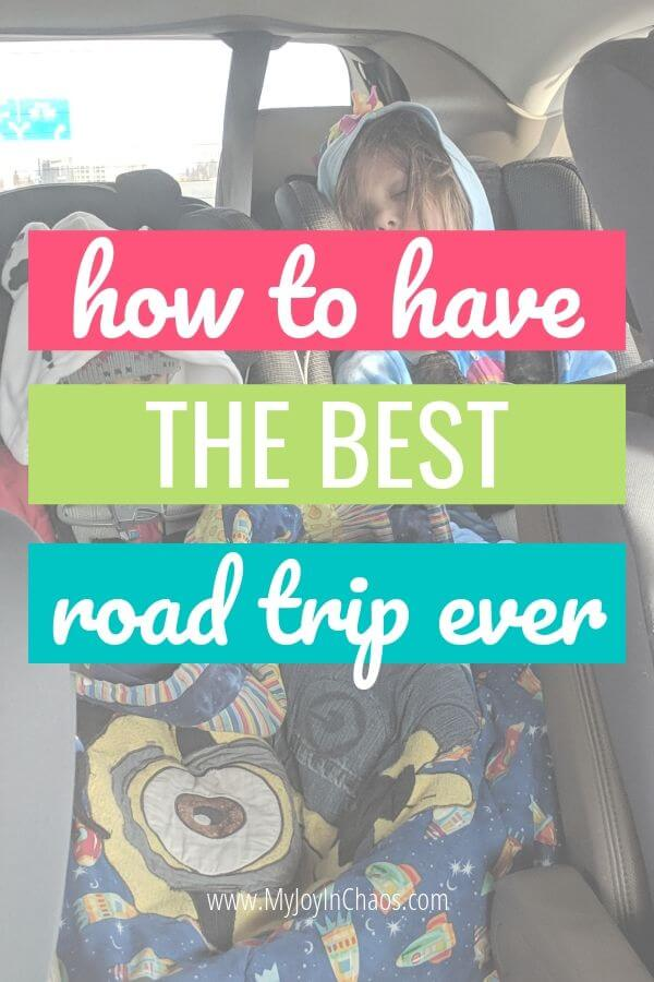 kids in car seats for best road trip ever