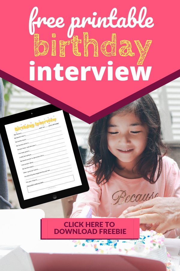 birthday girl with cake birthday interview