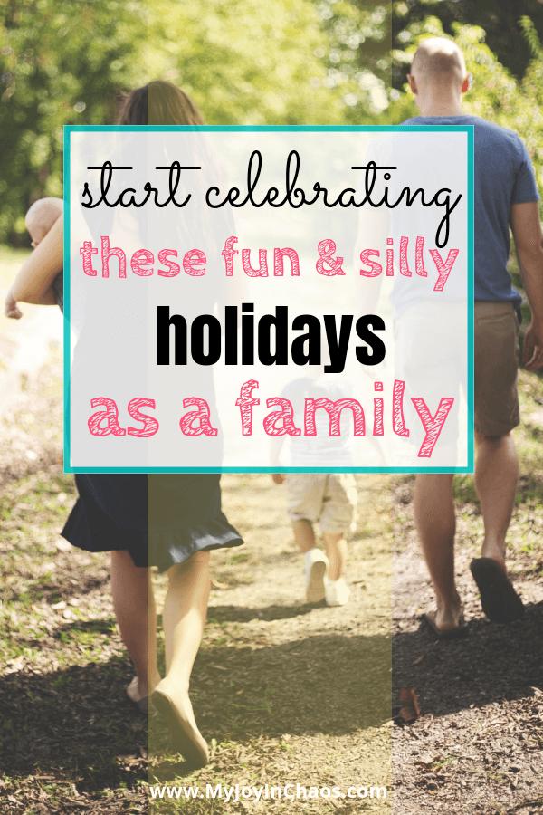 family walk silly holiday
