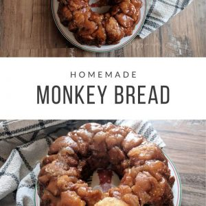 two images of homemade monkey bread