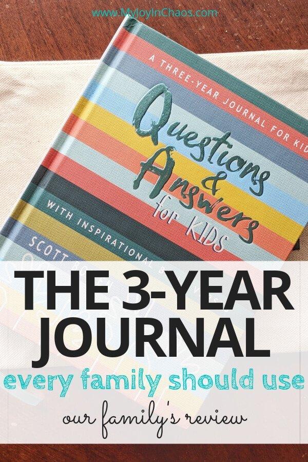 3 year parent child journal