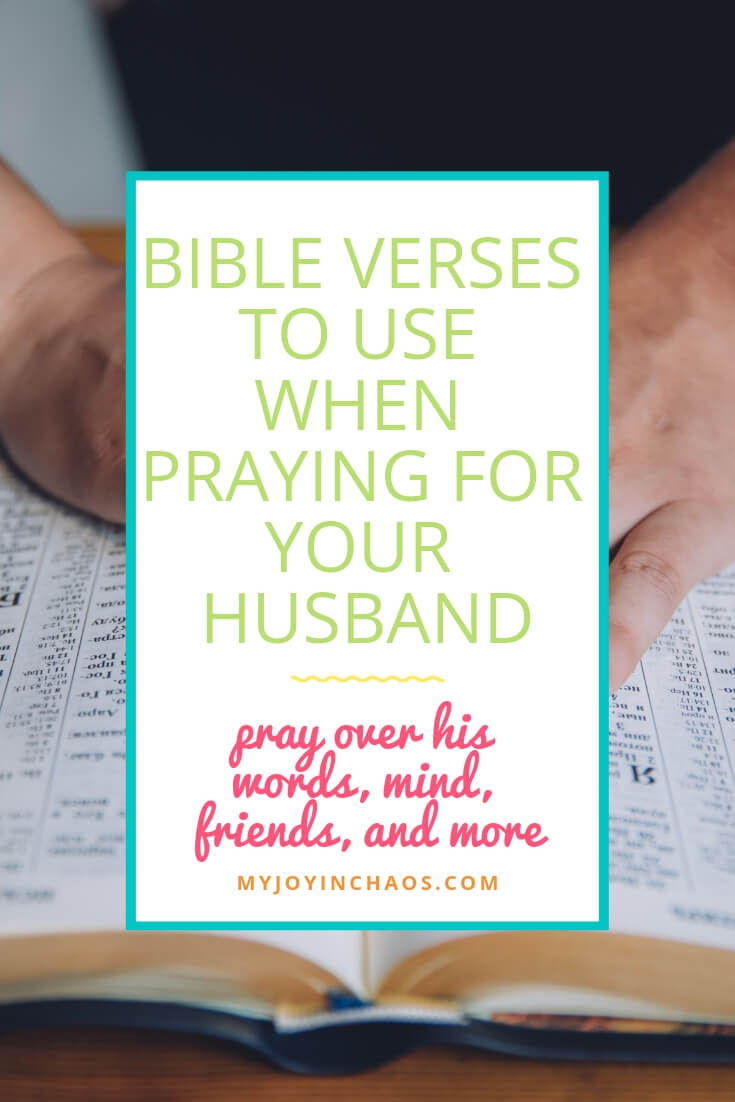 praying verses over your husband