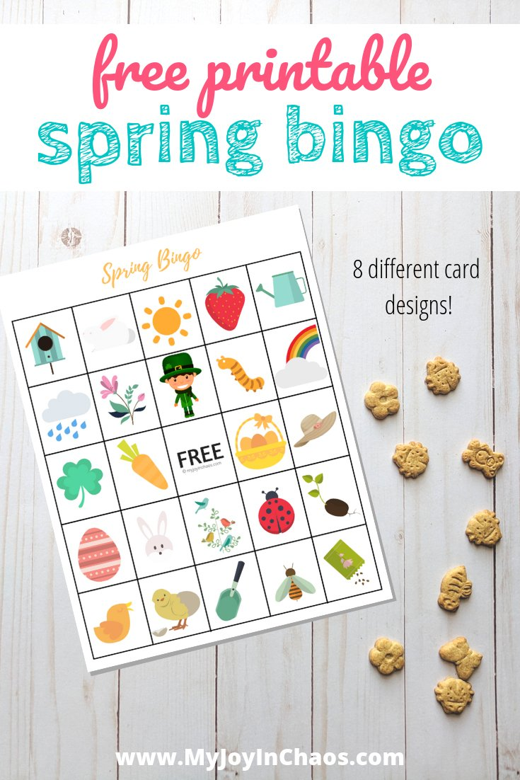 printable spring bingo cards