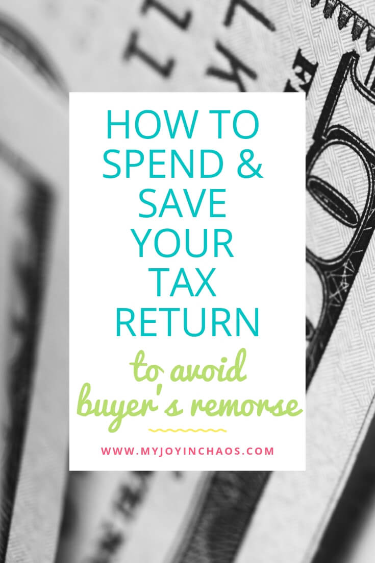 how to spend tax return