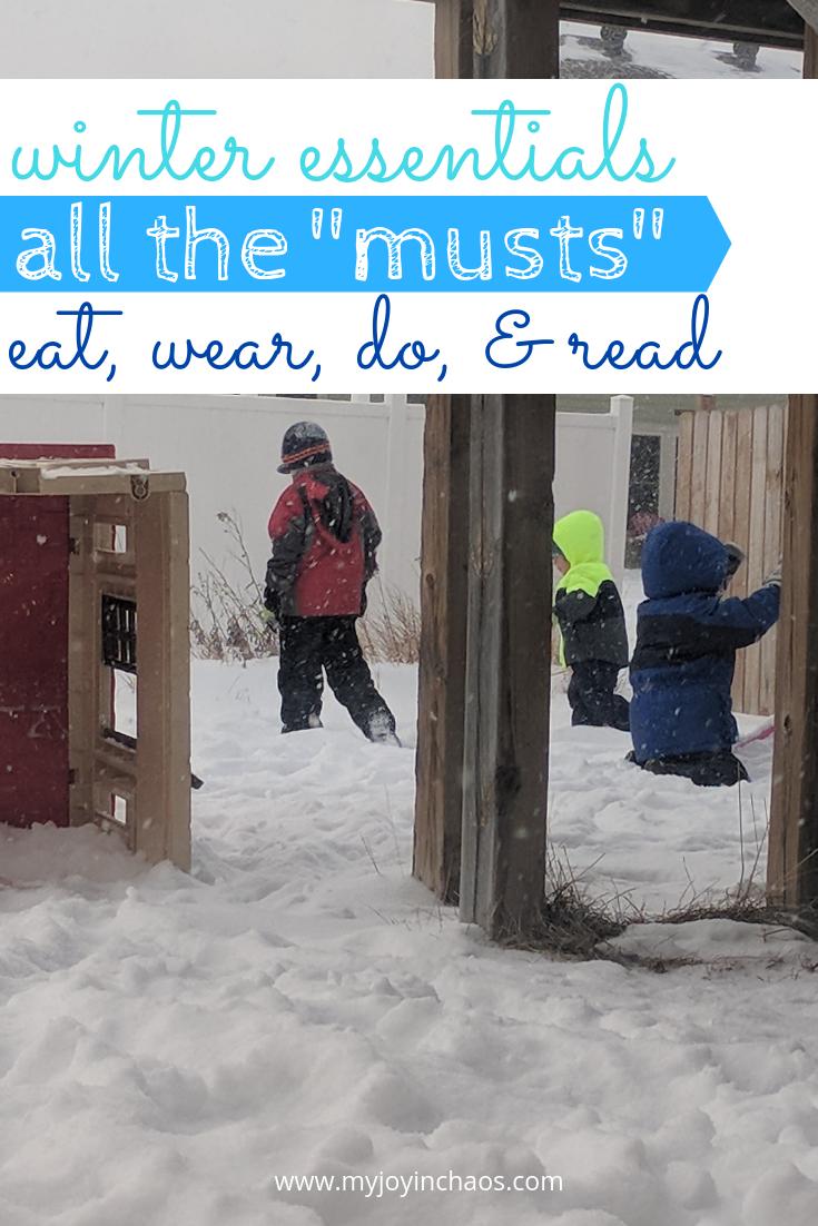 kids outside in snow