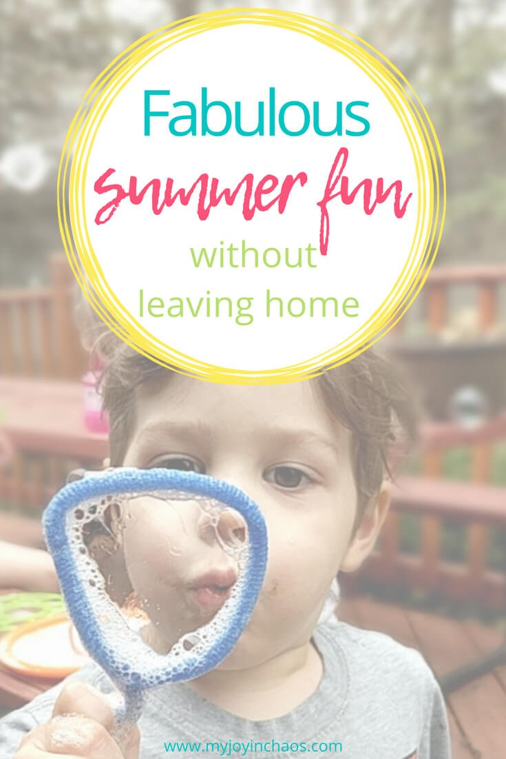 blowing bubbles for easy family summer fun