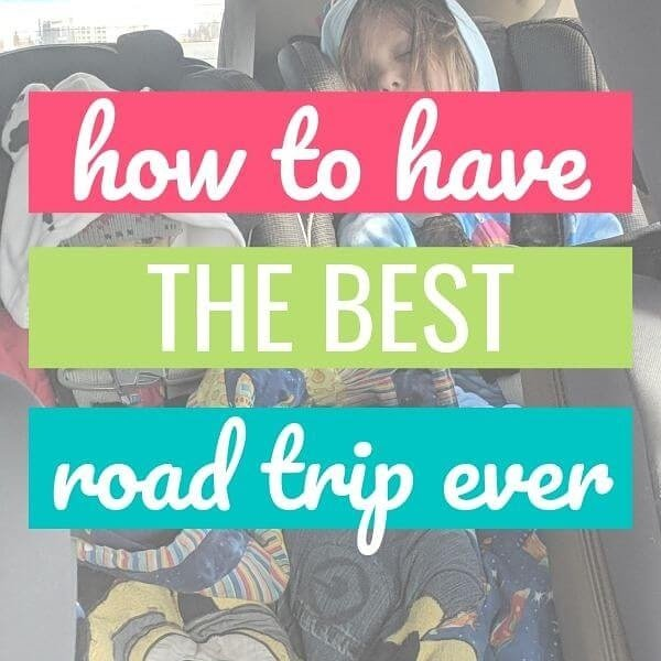 kids in car seats for road trip