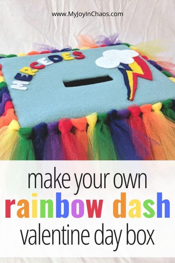 handmade rainbow dash valentine box