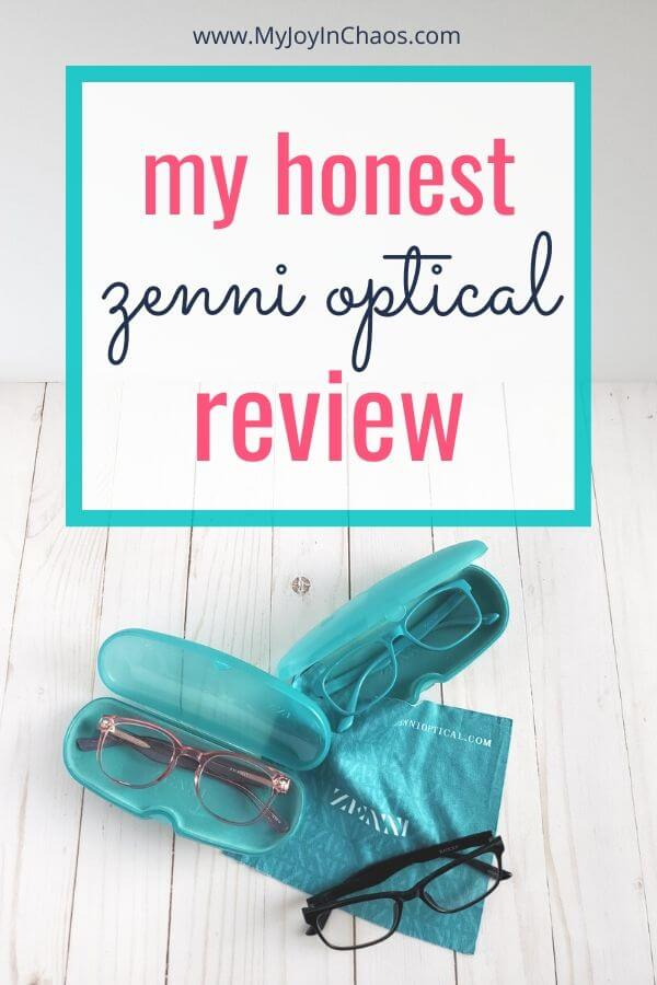 honest zenni optical review