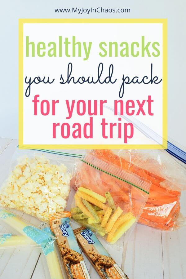 bags of healthy snacks for road trips
