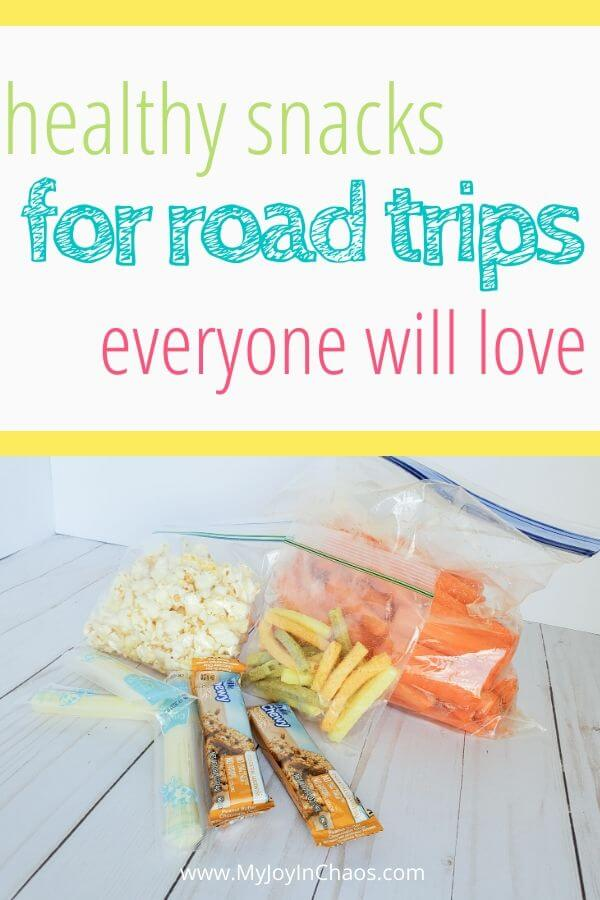 baggies of healthy snacks for road trips