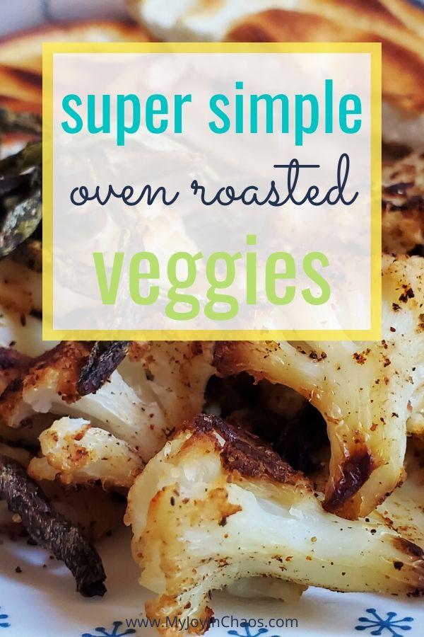 oven-roasted veggies on dinner plate